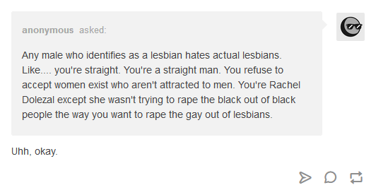 TERF hate comment