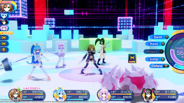 Superdimension Neptune VS Sega Hard Girls | Battle
