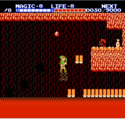 Zelda II: New Adventure of Link   Cave