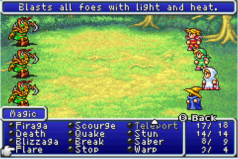 Final Fantasy DoS | Spell Charges