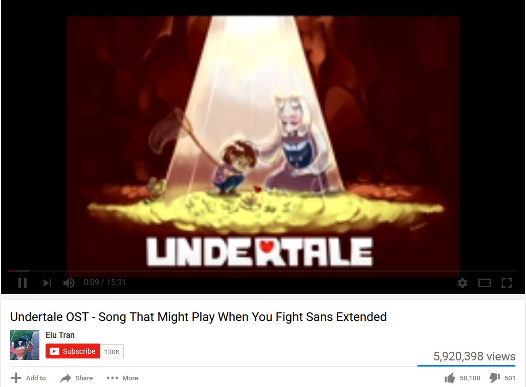 That song that might play when you fight Sans | Youtube