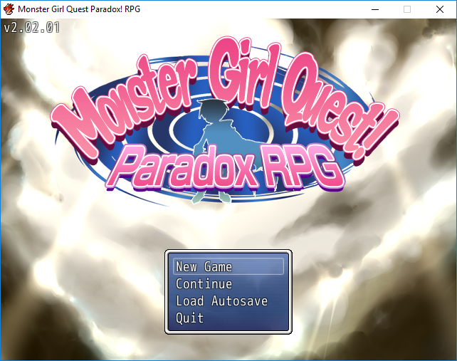 Monster Girl Quest Paradox | Title screen