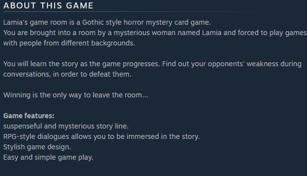 Lamia's Game Room | Store blurb