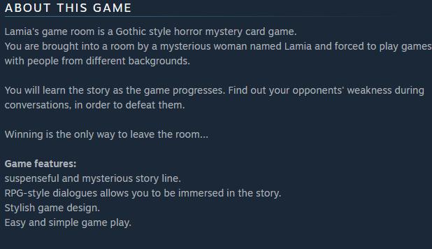 Lamia's Game Room | Store blurb