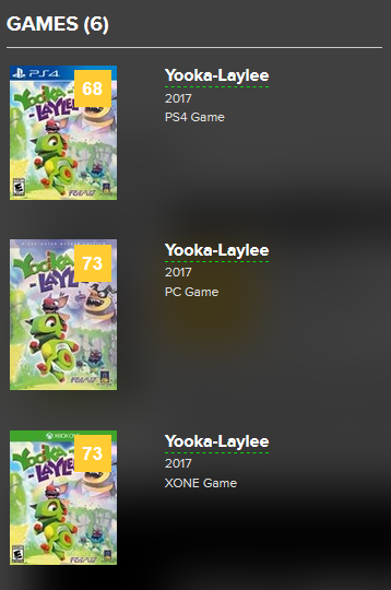 Yooka Laylee | metacritic.
