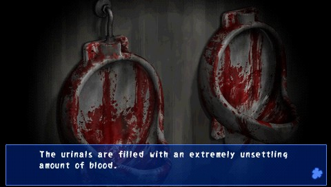 Corpse Party | urinals filled with blood