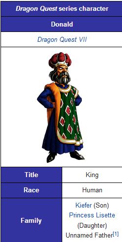 Dragon Quest VII | King Donald