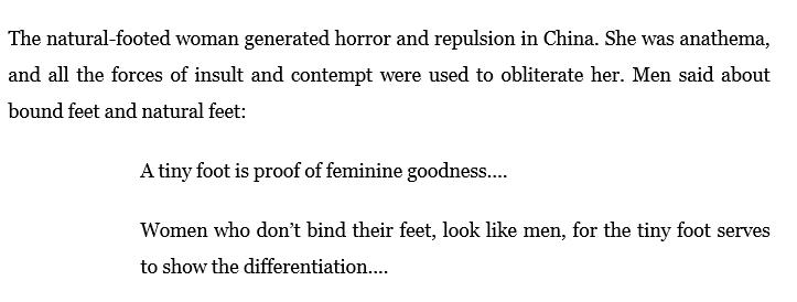 Woman Hating | natural feet