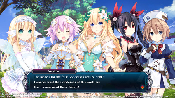Cyberdimension Neptunia: 4 Goddesses Online | models