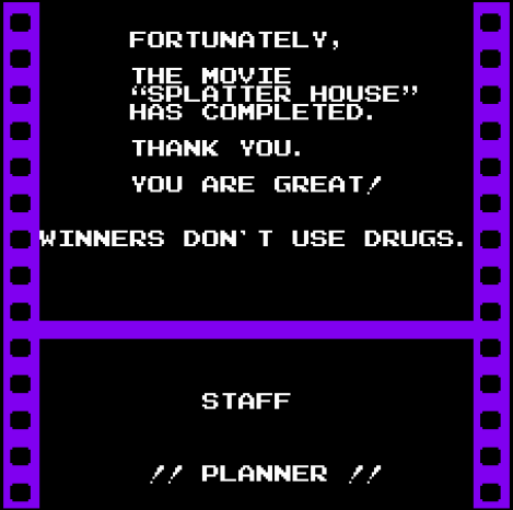Splatterhouse: Wanpaku Graffiti | winners don't use drugs