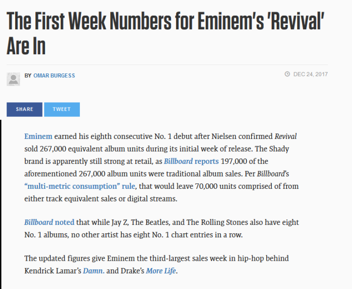 Eminem Revival | Sales