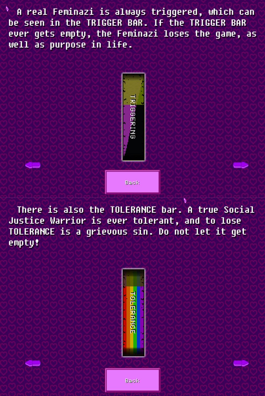 Feminazi: The Triggering | Trigger and Tolerance Bar