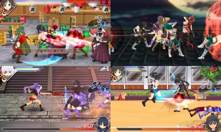 Senran Kagura Burst   gameplay
