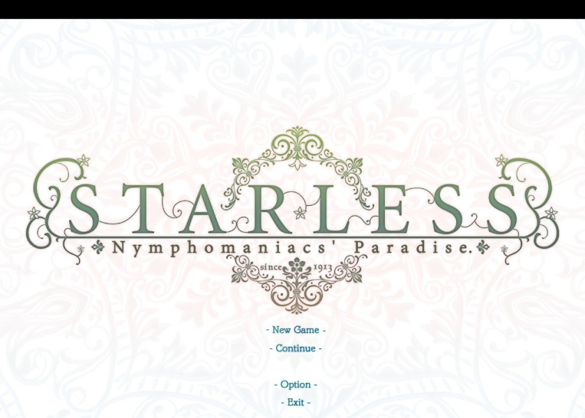 Starless: Nymphomaniac's Paradise | title screen