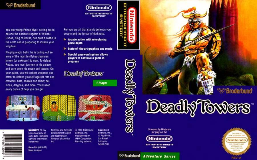 Deadly Towers | US Boxart