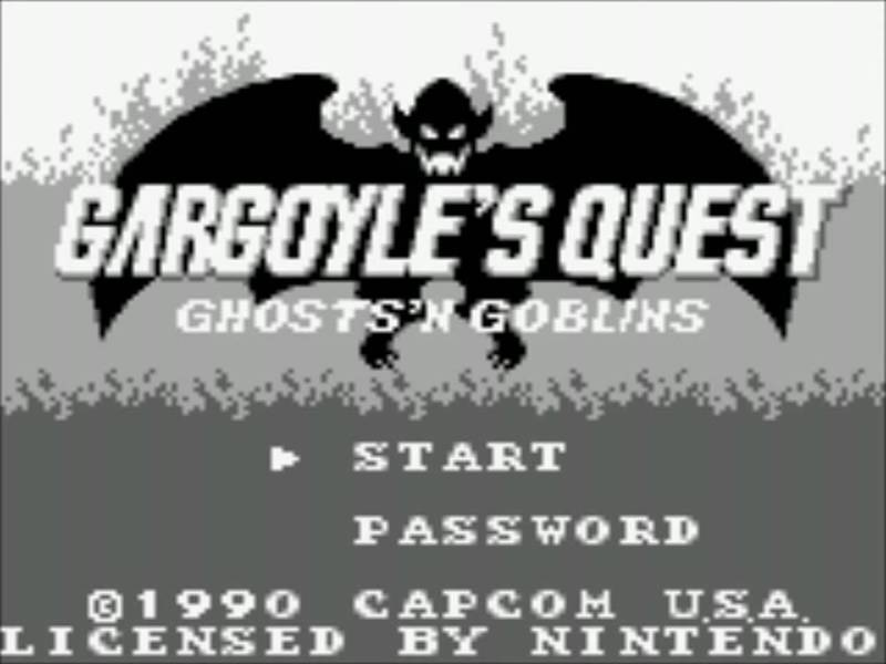 Gargoyle's Quest | title Screen