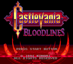 Castlevania Bloodlines | Title Screen