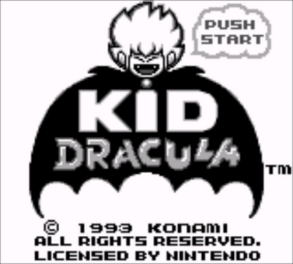 Kid Dracula | Title Screen