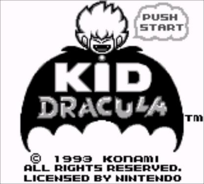 Kid Dracula | Title Screen