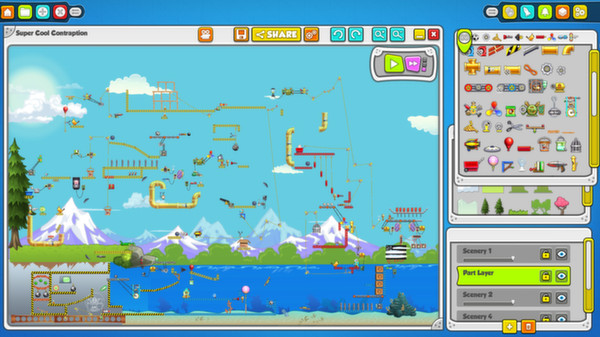 Contraption Maker   Puzzle I didn't make it to