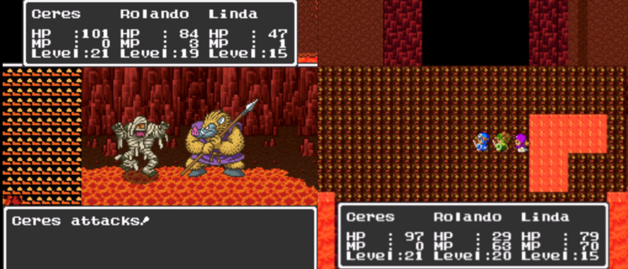 Dragon Quest II | Glitched screens