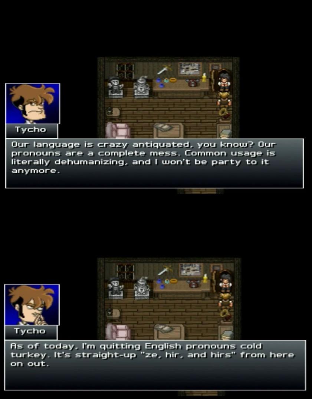 Penny Arcade Adventures: Episode Three | Pronouns