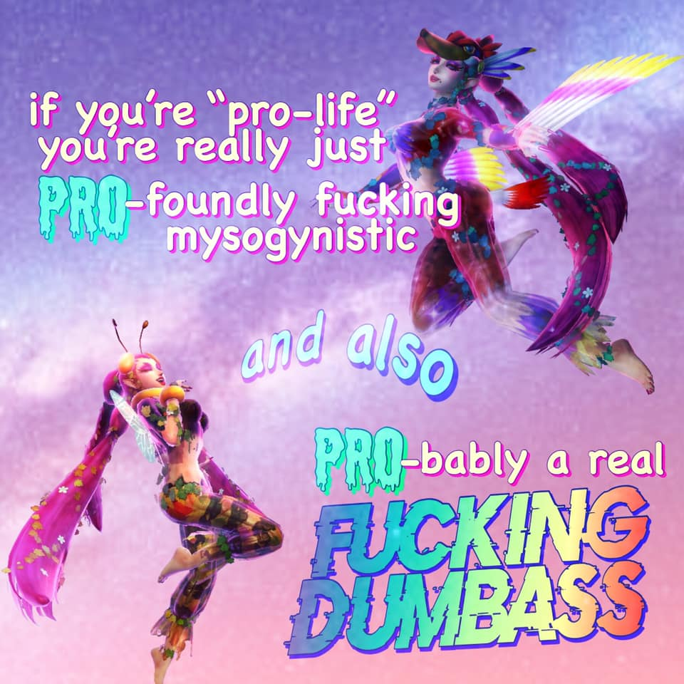 Pro-foundly misogynistic