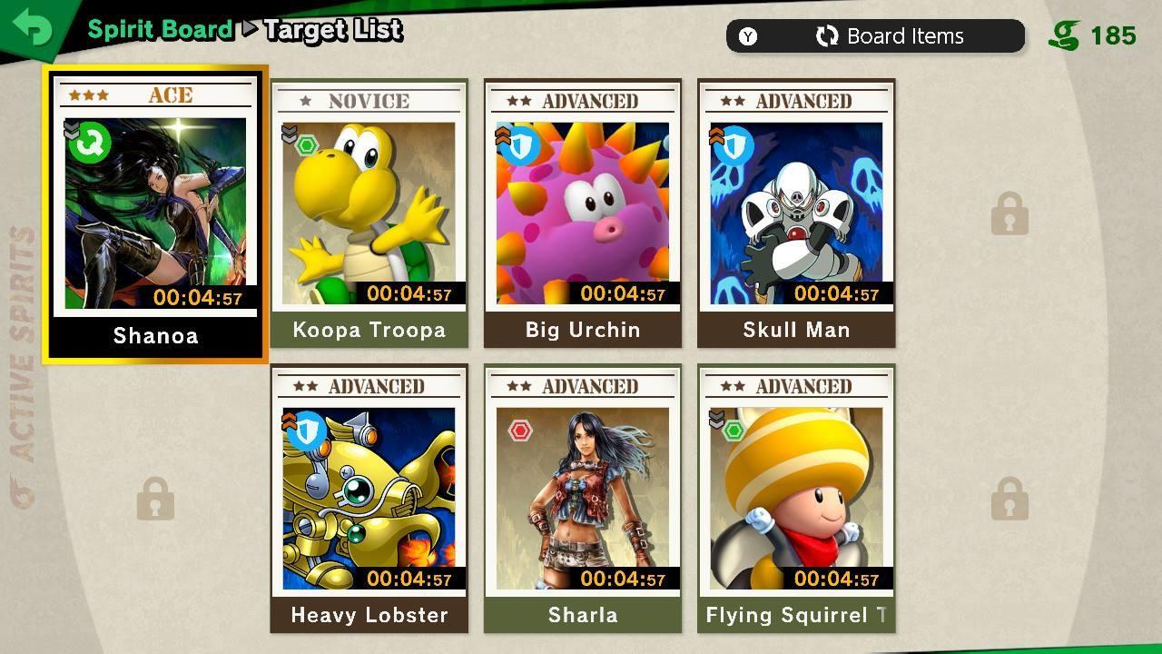Super Smash Bros. Ultimate   Spirit board