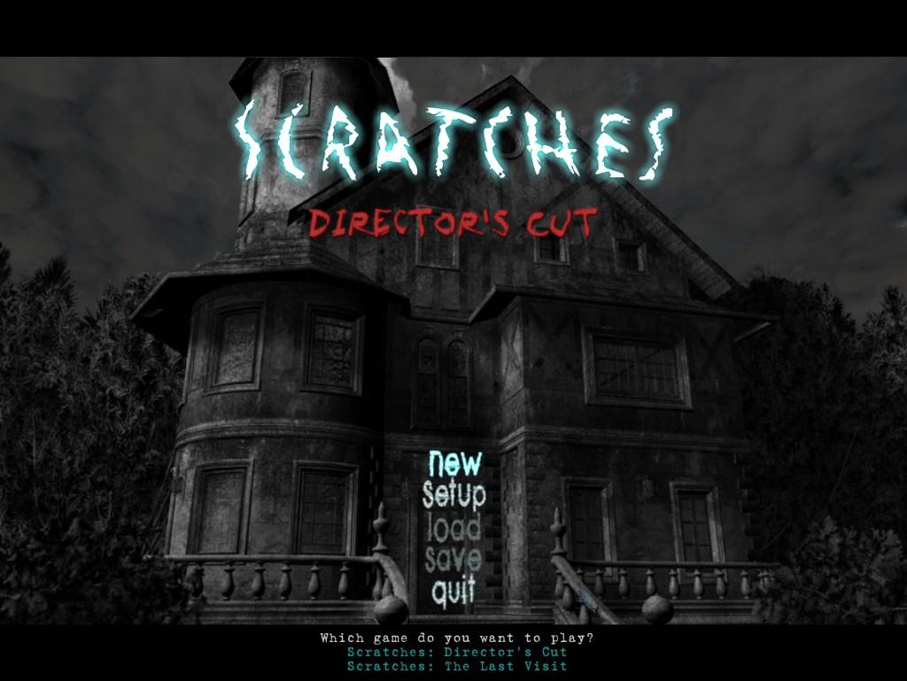Scratches | Title screen