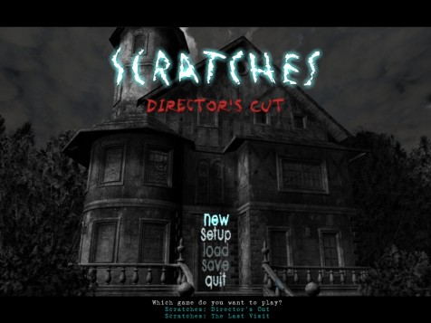 Scratches | Title screen