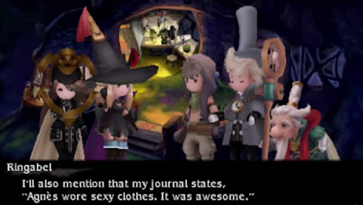 Bravely Default | Agnes wore sexy clothes