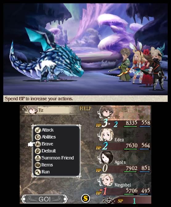 Bravely Default | Battle Screen